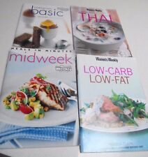 4 of - Womens Weekly Cook Books Thai, Midweek, Low-Carb- Cooking Class Basic