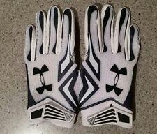 Under Armour Swam NFL Football Gloves Blue & White Size Medium