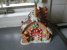 New ListingFestive Partylite Gingerbread Holiday Village Tea Light House Euc