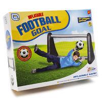Inflatable Football Soccer Goal Net Score Kids Garden Outdoor Sport Game Toys