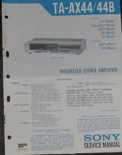 Sony TA-AX44/44B hifi amplifier service repair workshop manual (original copy)
