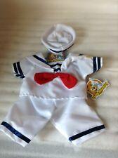 """Teddy Mountain Sailor Boy w/Hat Outfit Teddy Bear Clothes 16"""""""