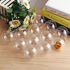 30X Mini Transparent Fillable Christmas Tree Ball Decoration Ornaments Baubles