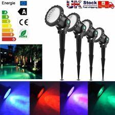 4X LED RGB Underwater Landscape Light Garden Aquarium Spotlight 16 Colors 36LED