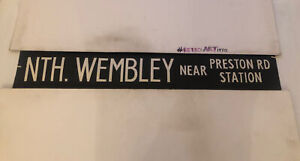 "London Bus Route Destination Blind Feb1979 86 42"" : North Wembley Preston Road"