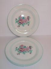 3 x Swan Dinner Plates Floral Design 27cm Lovely