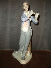 "LLADRO Nao ZAPHIR 16"" Musician Clown with Flute #581 Signed by Artist Jose Puche"