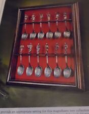 Franklin Mint Charles Dickens Christmas Carol Pewter Spoons Set of 12 w/ Display