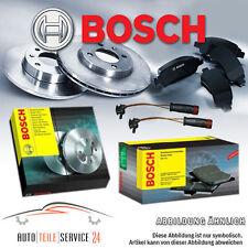 Bosch Bremsen Set 4 Bremsscheiben und 2 Beläge Vorne-Hinten mit VWK Audi VW NEU