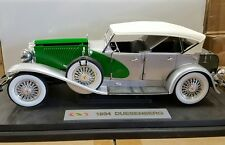 1934 DUESENBERG MODEL J SILVER/GREEN 1/18 DIECAST MODEL BY SIGNATURE  18110