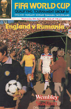 England v Rumania Official Souvenir Programme - Wednesday 29th April 1981