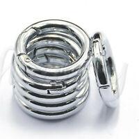 5pc circle metal carabiner hook snap round clip hook keychain outdoor 35mm~jp