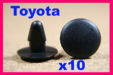 10 Toyota boot trunk bonnet hood lining insulation cover panel fastener clips