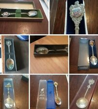 More details for job lot of 8 collectable souvenir tea spoons all boxed including  2royal ones