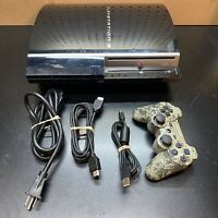 Sony PlayStation 3 PS3 CECHH01 40GB Fat Console w/ 1 Controllers, HDMI Cable,Pow
