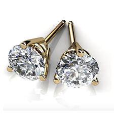 4.00ct Diamond Earring Stud 14K Hallmarked White Gold Round Cut VVS1/D Jewelry