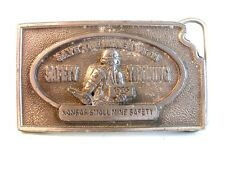 Kansas Small Mine Safety Save The Miner Belt Buckle