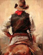 Canvas Print Oil painting Picture Impression Cowboy Back on canvas L696
