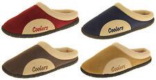 Coolers Mens Soft Warm Fleece Lined Open Slipper Mules Sz Size 7 8 9 10 11 12