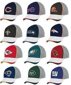NFL Men's Reebok Gridiron End Zone Structured Flex Hat Cap NEW TW85Z