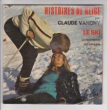 """Claude VANONY Vinyl 45T 7"""" EP LE SKI - LA SECHERESSE - LES CANARDS Comique RARE"""