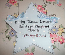 PERSONALISED Christening Naming Day Sign Plaque ~ Gift Present  ~ BABY BOY