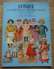 Antique Advertising Paper Dolls In Full Color 1981 Barbara Jendrick