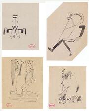 ROBERT CABY Musique Satie Cinéma STUDIO 28 Surréalisme 8 DESSINS 1920/1930s