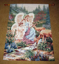 Angel w/Child & Deer ~ Making New Friends Tapestry Wall Hanging ~ Dona Gelsinger