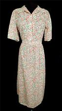 EXCEPTIONAL FRENCH VINTAGE 1930'S-1940'S WWII ERA COTTON FLORAL DRESS SIZE 8+