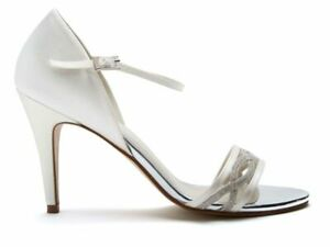 Rainbow Club Dakota size 5 Ivory Satin Dyeable Formal/Wedding Shoes