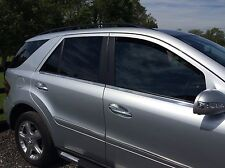MERCEDES ML W164 WINDOW STRIPS CHROME STAINLESS STEEL, 2005-11.