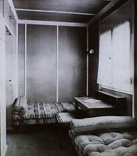 German Bedroom by Martin Wagner,1932 Berlin Exposition,Magic Lantern Glass Slide