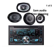 "Kenwood Car iPod USB AUX CD Bluetooth Radio, 2 Kenwood 6x9"" & 6.5"" Car Speakers"