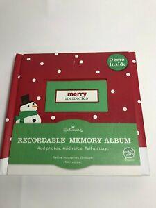 Hallmark Christmas /Winter /Holiday Recordable Memory Photo Album 10 Page