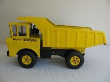 Vintage 1965 Tonka Toys Mighty Yellow Dump Truck w/ 14 Hole Tires #2900 EX