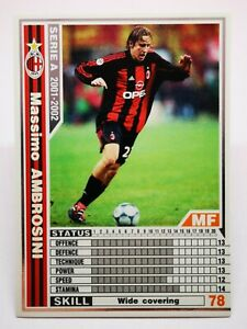 Panini 2001-02 WCCF IC D2 carte card soccer AC Milan 154/288 Massimo Ambrosini