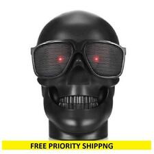 WJM BLACK Skull Wireless MP3 Speaker red eyes Bluetooth tf card slot