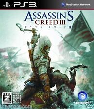 Used PS3 ASSASSIN'S CREED III 3 SONY PLAYSTATION 3 JAPAN JAPANESE IMPORT
