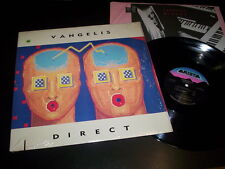 "Vangelis ‎""Direct"" LP inner Arista ‎– AL 8545 Usa 1988"