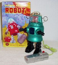 BRAND NEW PAPA SAN BATTERY OPERATED PISTON ACTION TIN ROBOT MINT