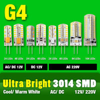 G4 3014SMD 3/5/6/8/9W LED Crystal Lamp Light Mini Silicone Bulbs 12V AC/DC 220V