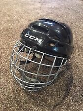 CCM V08 Helmet with Cage, Medium Black, Non Pro Stock