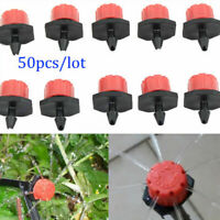 50pcs / Juego Ajustable Micro Goteo Irrigación Regadera Emisor Goteros