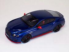 1/18 GT Spirit Bentley Continental Black Edition in Blue KJ006