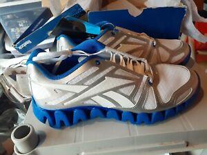 Reebok Men's ZIG DYNAMICA RUNNING SHOE v51102 blue white NIB size 9