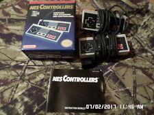Lot of 2 Nintendo NES Video Game Controllers In Original Box & Manual