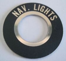 Nav. Lights Toggle Switch Label for DC switch panels for boats