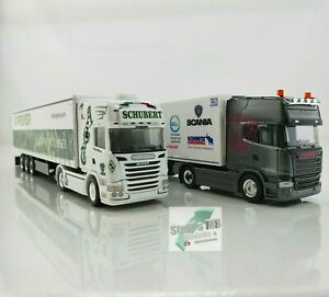 Herpa Scania R 13 TL Asphalt Cowboys Christina Scheib Andreas Schubert Tegernsee