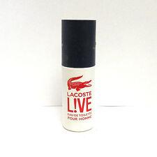 Lacoste Live Eau de Toilette Spray 0.27 fl oz READ DESCRIPTION